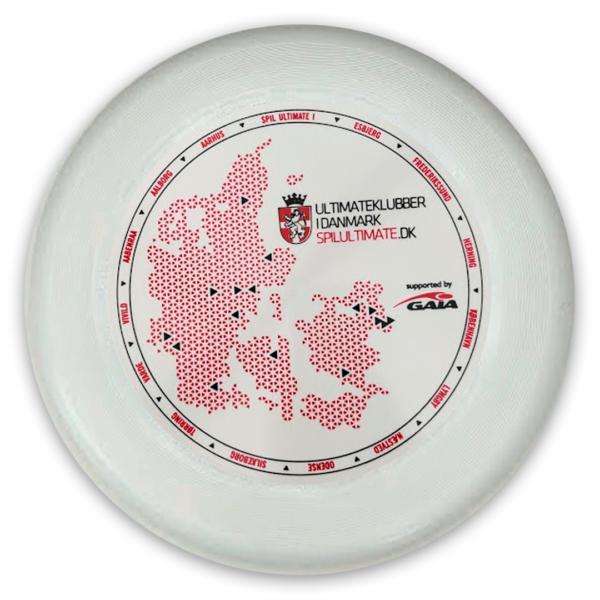 DFSU disc med Danmarkskort og logo