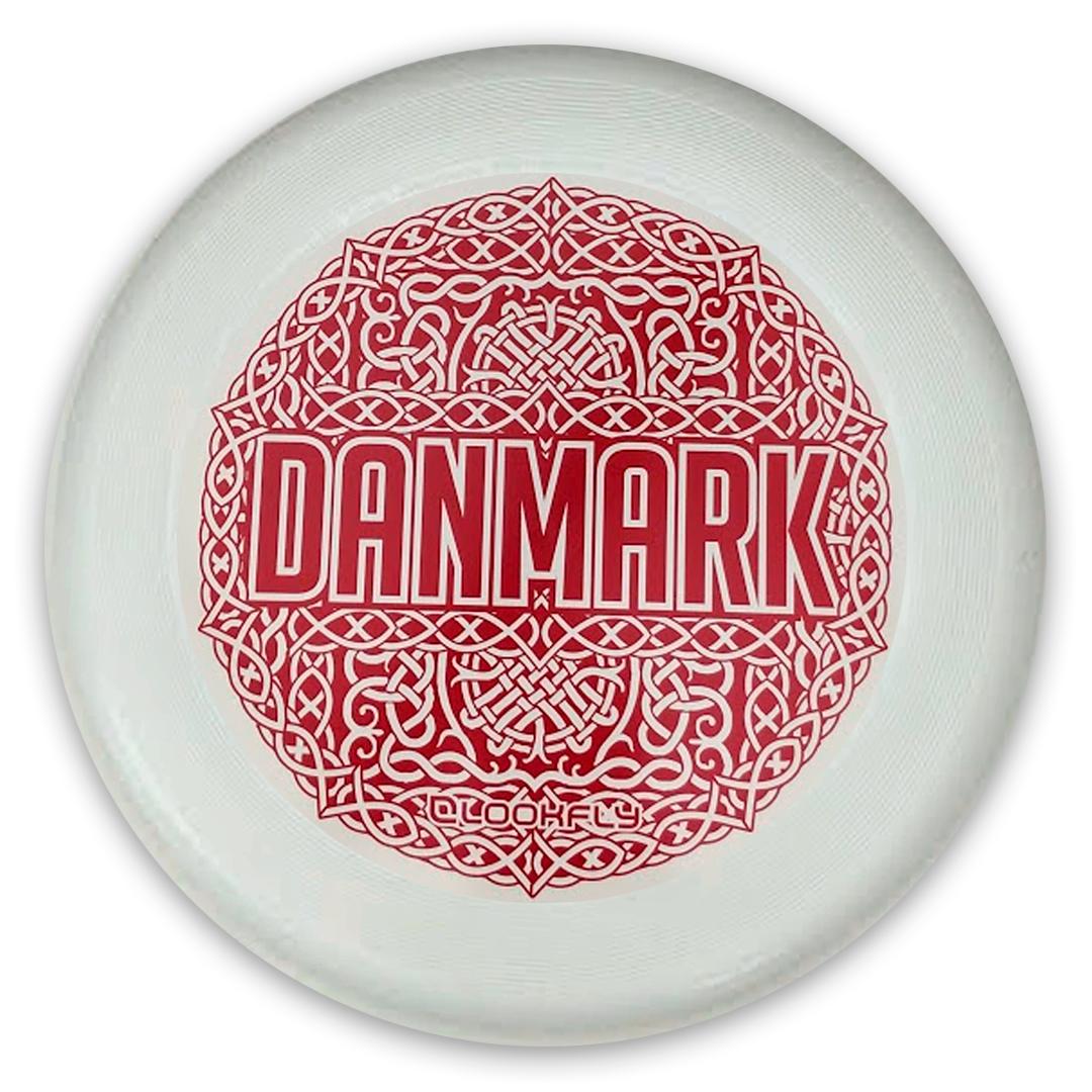 DFSUs Danmark Disc med samme mønster som landsholdstrøjerne